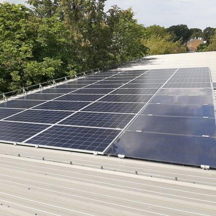 Ražošnas ēka Rīga 11kw 2019 gads Solaredge sistēma