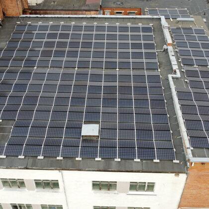 Ražošanas ēka Nākotne 217 kW 2019 gads Solaredge sistēma