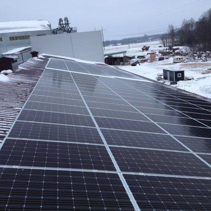 Zemnieku saimniecība Balvu novadā 50kw saules elektrostacija 2018 gads Solaredge sistēma