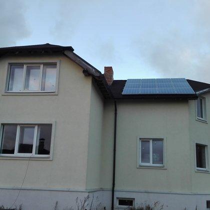 Saurieši privatmaja 7kw saules elektrostacija 2015 gads Solaredge sistēma