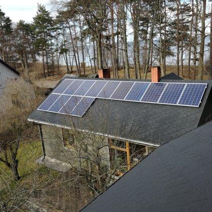 Roja privātmāja 3,5kw saules elektrostacija 2016 gads Kostal sistēma