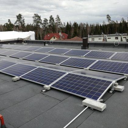 Sunīšu ciemats 14kw saules elektrostacija 2017 gads Solaredge sistēma